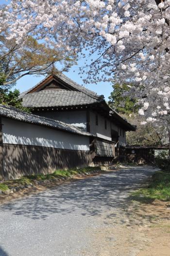 寛政年間に建築されたものと伝えられ、当時の面影を残す長屋門の写真